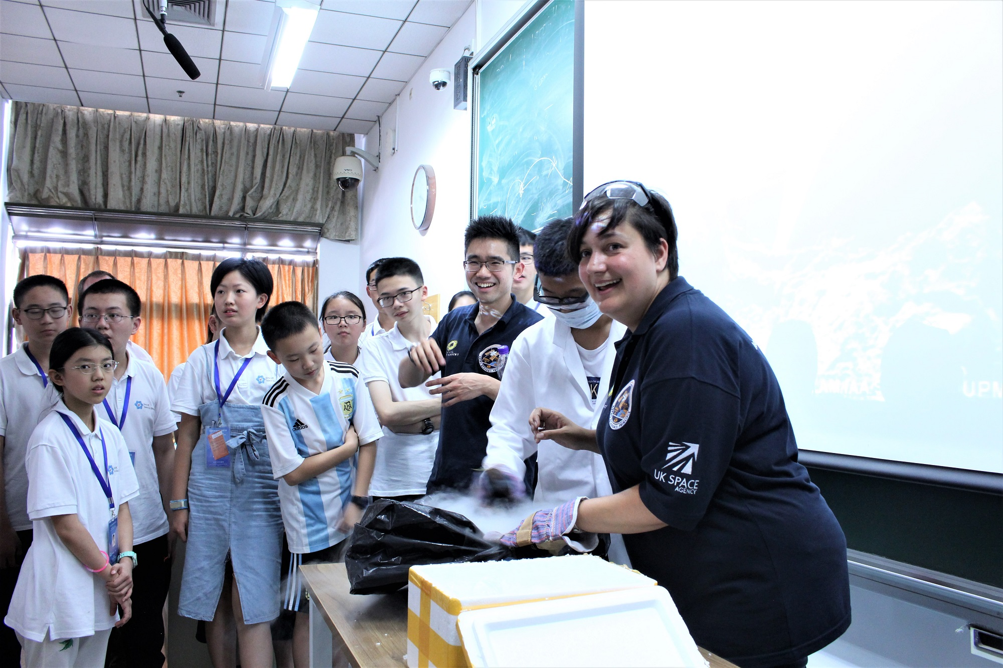 Beijing Space Summer School July - making comets