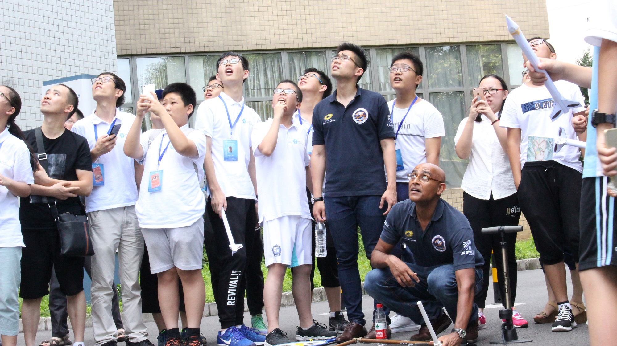 Beijing Space Summer School July - Watching rockets