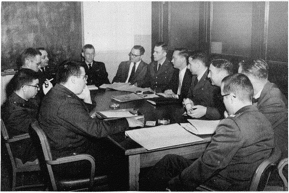The Candidate Selection Committee Photo credit Project Mercury Candidate Evaluation Committee Evaluation Program Charles L. Wilson ed. Aerospace Medical Laboratory Arlington Hall Centre Virginia. 1959